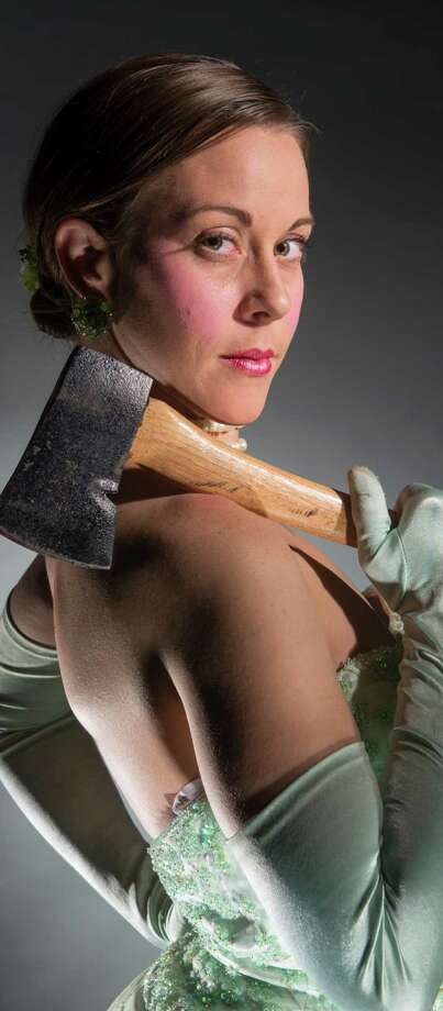 """Roxanne RedMeat in Thrillpeddlers' production of """"Shocktoberfest 15: The Bloody Débutante. An Evening of Horror, Carnage, Puppets and Song Oct. 9 - Nov. 22, 2014 (Thurs., Fri. & Sat. - 8:00 pm) Limited Engagement - Only 23 Performances! Opening Night - Sat. Oct. 11 - 8:00 pm Special Halloween Performances Oct. 28 & 29 (Tues. / Wed.) - 8:00 pm at The Hypnodrome in San Francisco Tickets available at http://www.brownpapertickets.com/event/858011 Photo: Thrillpeddlers / ONLINE_YES"""