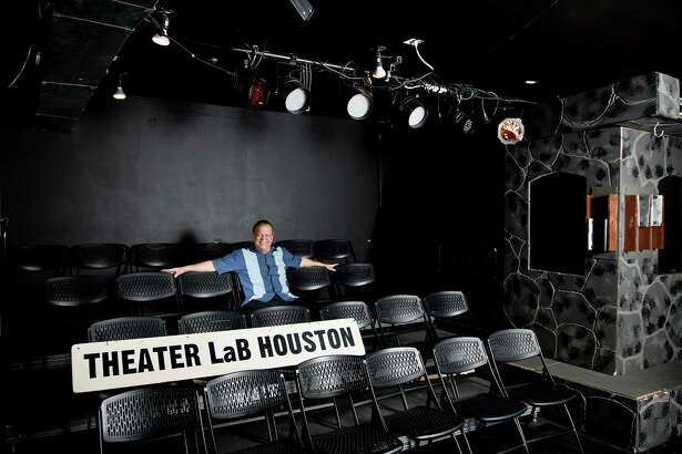 10/23/13: Theatre LaB Houston, founder/ director Jerry LaBita sits off stage at the Obisidan Art Space located at  3522 White Oak in Houston, Texas.