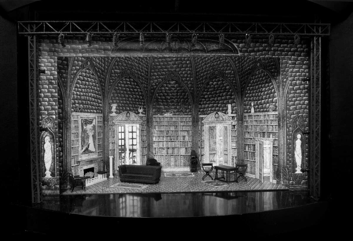 """The Act I Set Model for """"Dracula"""" was designed by Edward Gorey. Photo by Mike McCormick."""