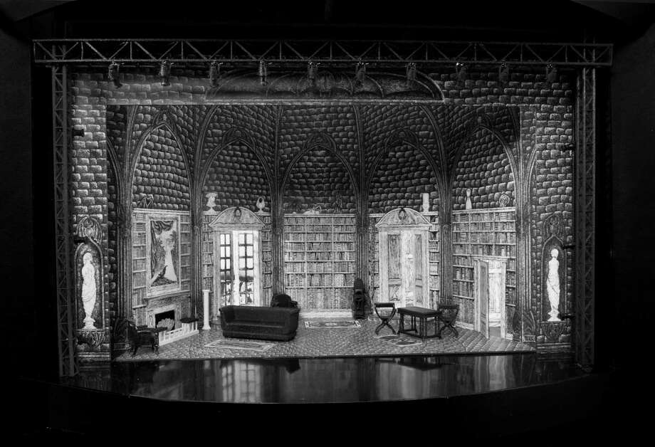 "The Act I Set Model for ""Dracula"" was designed by Edward Gorey. Photo by Mike McCormick. Photo: Mike McCormick"