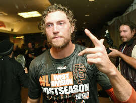 The Giants' Hunter Pence's speeches have gained lives of their own — both the one in 2012 and a more earthy one Thursday.