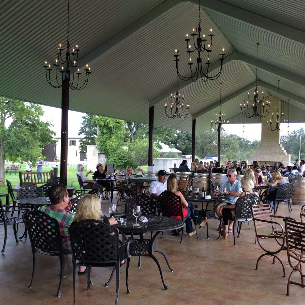 A new open-air pavilion at Becker Vineyards provides extra seating on busy weekends.