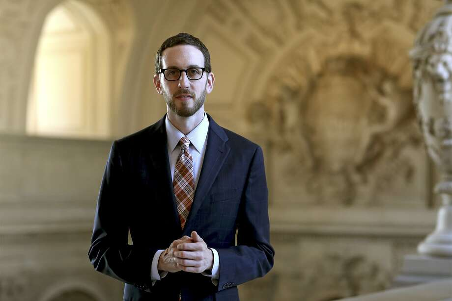 Scott Wiener, a member of the San Francisco Board of Supervisors, at City Hall, Sept. 17, 2014. (Thor Swift/The New York Times) Photo: Thor Swift, New York Times