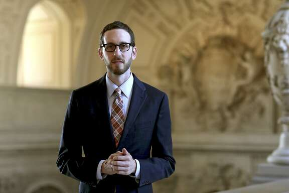 Scott Wiener, a member of the San Francisco Board of Supervisors, at City Hall, Sept. 17, 2014. in a bid to combat what he calls the public stigma around the drug, Wiener has announced that he takes Truvada, the antiviral pill controversial with some in the gay community, in order to reduce his risk of contracting HIV. (Thor Swift/The New York Times)