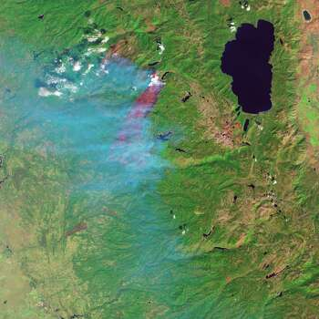 The King Fire, a massive blaze in California's Eldorado National Forest,