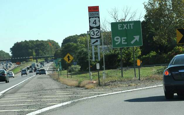 Detour signs are seen at exit 9E on I-87 on Friday, Sept. 26, 2014 in Saratoga Springs, N.Y. The Mechanicville bridge is closed except for a pedestrian walkway.  (Lori Van Buren / Times Union) Photo: Lori Van Buren