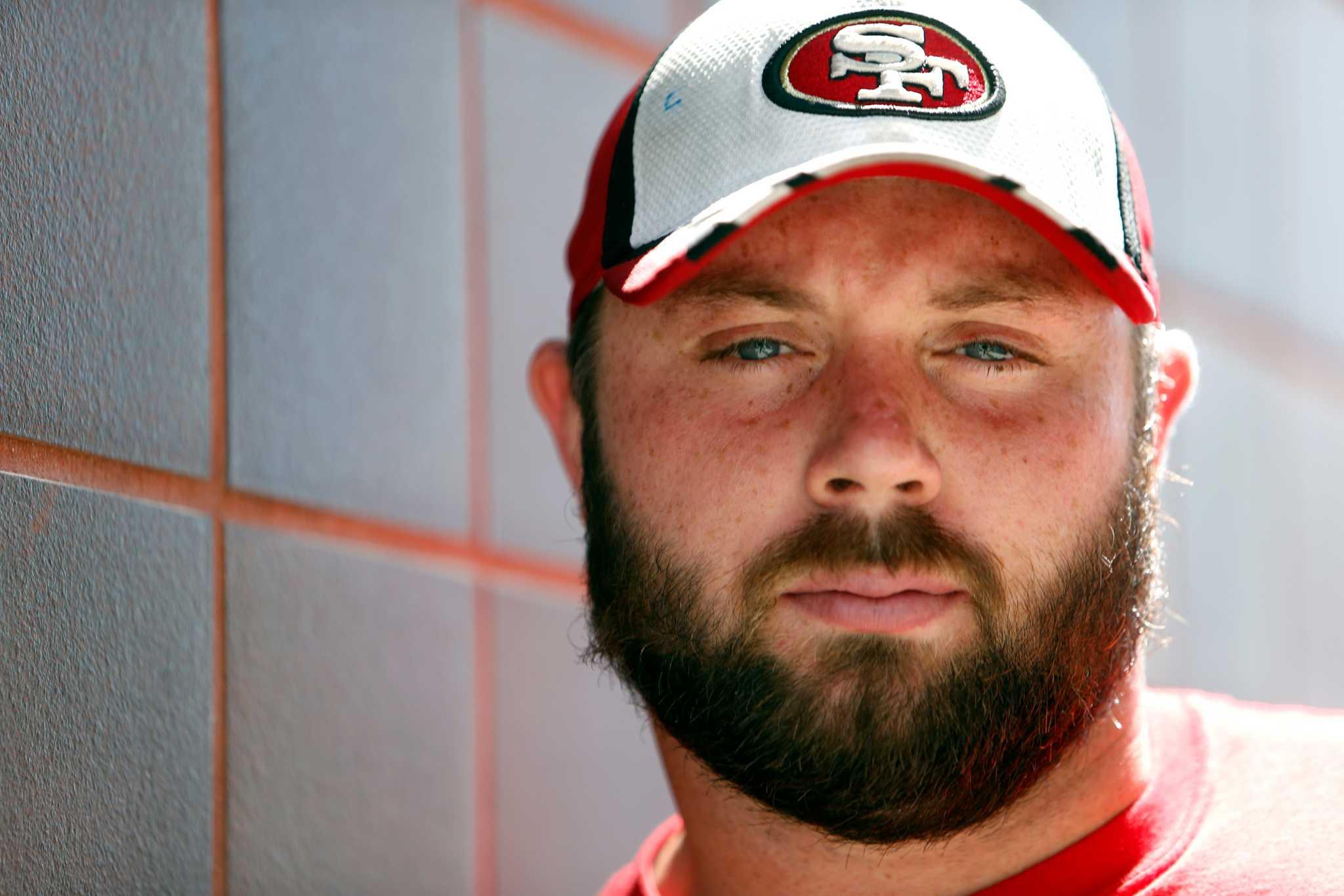 49ers kilgore a gentle giant when not a ferocious center sfgate