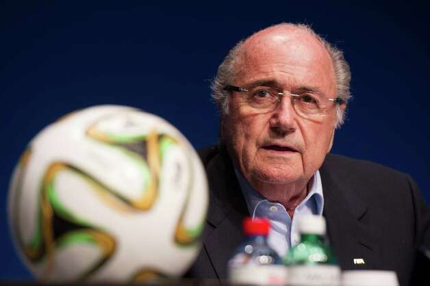 FIFA President Sepp Blatter gives a press conference at the end of a meeting of the FIFA Executive Comitee on September 26, 2014 at the organistation's headquarters in Zurich, after formalizing his candidacy for a 5th mandate at the head of the FIFA. AFP PHOTO / SEBASTIEN BOZONSEBASTIEN BOZON/AFP/Getty Images ORG XMIT: 596 Photo: SEBASTIEN BOZON / Sebastien Bozon