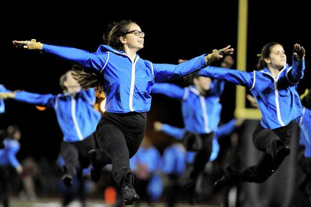 The Shen dance team performs in the halftime show during their football game against Saratoga on Friday, Sept. 26, 2014, at Shenendehowa High in Clifton Park, N.Y. (Cindy Schultz / Times Union) Photo: Cindy Schultz / 00028776A