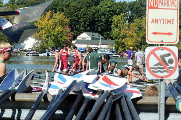 Crew teams take to Saratoga Lake during the Tail of the Fish Regatta on Saturday Sept. 27, 2014 in Saratoga Springs, N.Y.  (Michael P. Farrell/Times Union) Photo: Michael P. Farrell