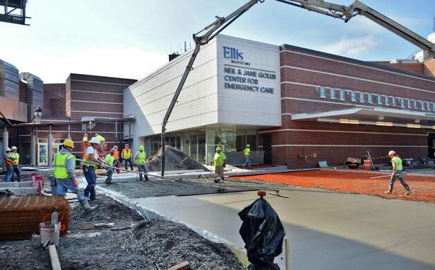 Construction continues at Ellis Hospital's new Emergency Care Center Thursday Sept. 18, 2014, in Schenectady, NY.  (John Carl D'Annibale / Times Union) Photo: John Carl D'Annibale / 00028570A