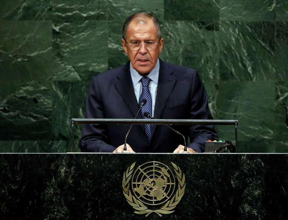 In his U.N. address, Russian Foreign Minister Sergey Lavrov said the crisis in Ukraine was the result of a coup backed by the U.S. and the European Union. Photo: Richard Drew / Associated Press / AP