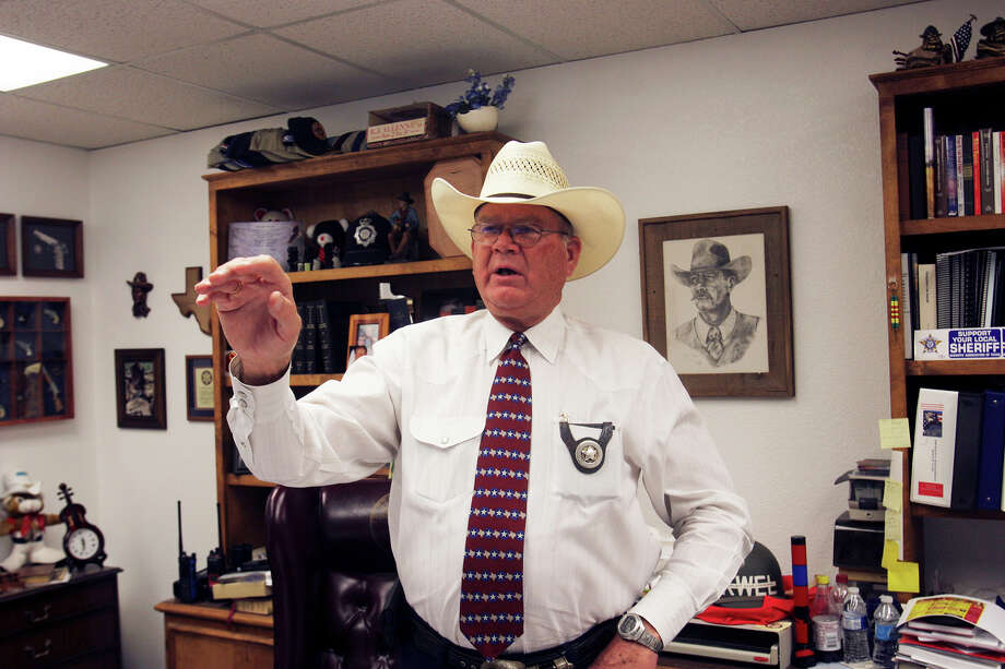Now in the middle of his eighth term, Midland County Sheriff Gary Painter, 67, plans to run at least once more before retiring. Painter became sheriff in 1985. Photo: John MacCormack