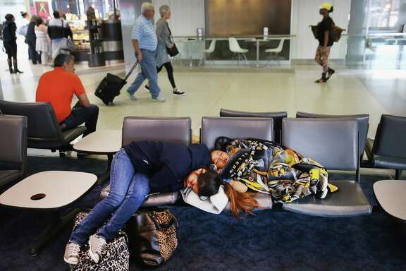 O'Hare International Airport cancelled more than 600 flights Saturday, leaving passengers stranded. Some slept overnight on cots provided by the airport.