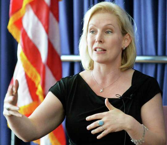 Kirsten Gillibrand, U.S. Senator and author, speaks during a NYS Writer's Institute Visiting Authors series at UAlbany Saturday Sept. 27, 2014, in Albany, NY.  (John Carl D'Annibale / Times Union) Photo: John Carl D'Annibale / 10028796A