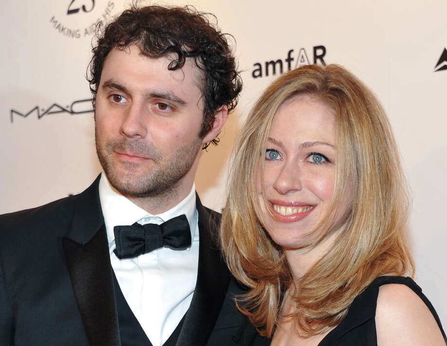 Chelsea Clinton, daughter of Ex-President Bill Clinton and former Secretary of State Hillary Clinton, and her husband, Marc Mezvinsky, are the parents of a daughter, Charlotte Clinton Mezvinsky, born Friday. Photo: Associated Press / AGOEV
