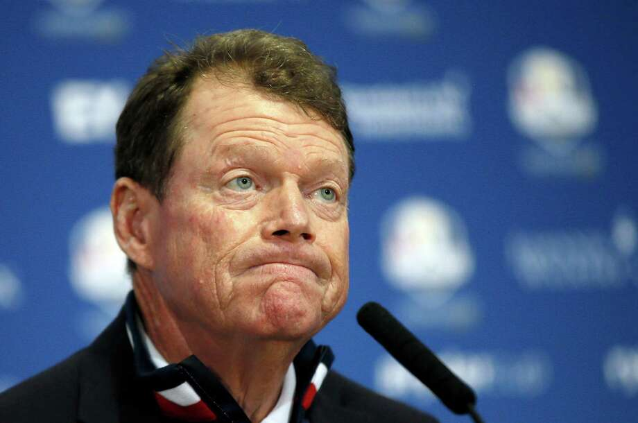 Tom Watson's captaincy ended in a lopsided loss and questioning of his decisions. Photo: Alastair Grant, STF / AP