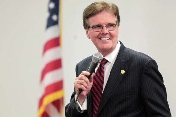 Candidate for Texas Lt. Governor, State Sen. Dan Patrick, speaks to voters during a debate Tuesday,October 1, 2013 at the Sosa Community Center in Houston, TX.  The debate was sponsored by the United Republicans of Harris County and the Texas Federation of Republican Women. (Billy Smith /Chronicle)