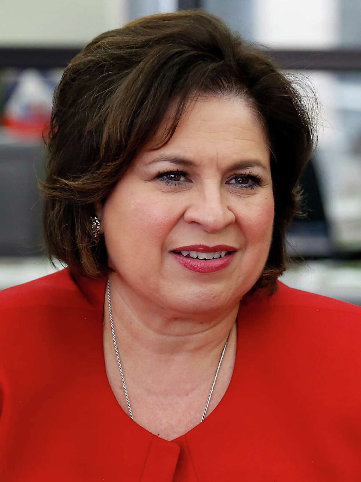 Lt. Governor candidate Leticia Van De Putte meets with the Houston Chronicle Editorial Board Friday, Sept. 26, 2014.