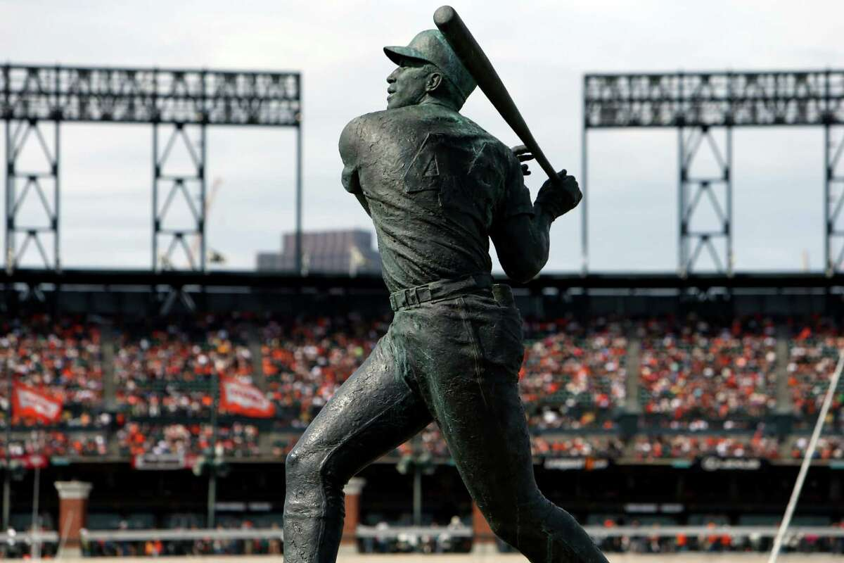 AT&T Park and Willie McCovey statue during San Francisco Giants' 9-3 win over San Diego Padres in MLB game at in San Francisco, Calif. on Sunday, September 28, 2014.