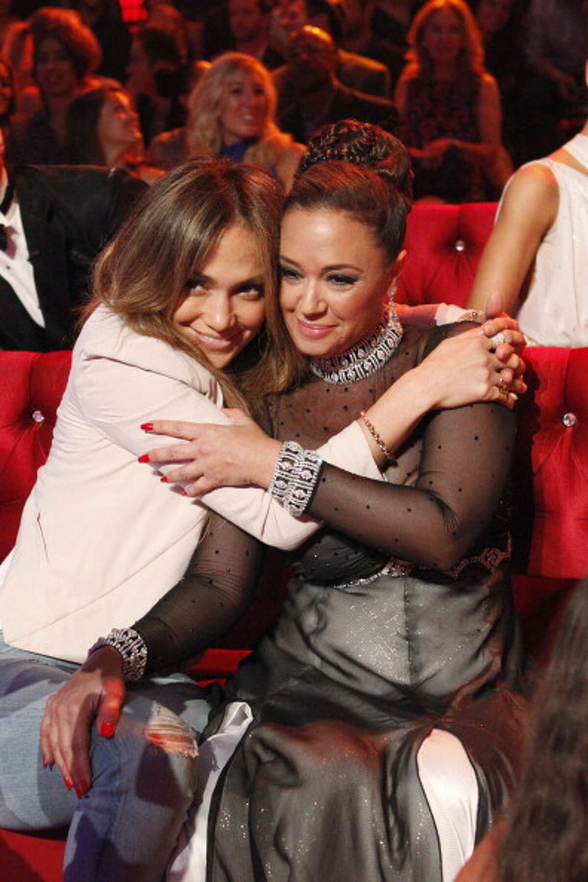 2013: Jennifer Lopez and Leah Remini, on the set of 'Dancing with the Stars.'
