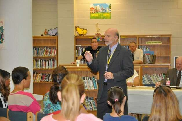 "Beaumont ISD Superintendent Vern Butler meets with parents at Dishman Elementary School earlier this month. Butler instituted ""Coffee with the Superintendent"" to try to give the community more transparency and access to district leaders.  Photo: Beaumont ISD Photo: BISD"