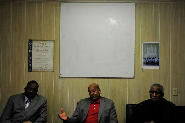 From left, Rev. C. G. Johnson, Paul Jones, and Rev. Oveal Walker, III, leaders of the Beaumont NAACP, discuss what they believe the incoming BISD board needs to do to improve and remedy past problems. Photo taken Thursday, September 25, 2014 Kim Brent/@kimbpix Photo: KIM BRENT / Beaumont Enterprise