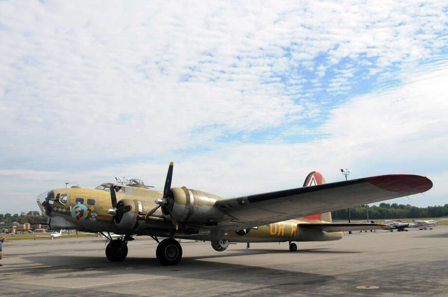 A B-17 Flying Fortress Bomber plane at the Westchester County Airport in Armonk, NY, Sept. 29, 2014. Photo: Keelin Daly / Stamford Advocate Freelance