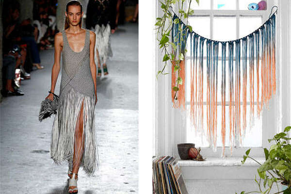 Fabulous Fringe  As seen on the Proenza Schouler Spring/Summer 2015 runway, long fringe trim becomes home-worthy with this multicolored fringe wallhanging. $74,  urbanoutfitters.com .      How To Style Your Sofa   11 Rooms Made Even Better By Show-Stopping Rugs   10 Decorating Myths To Stop Believe Now   How To Design A Truly Extraordinary Bathroom    13 Things You Should Never Have In Your Home   Kids' Room Essentials That Grow With Your Child