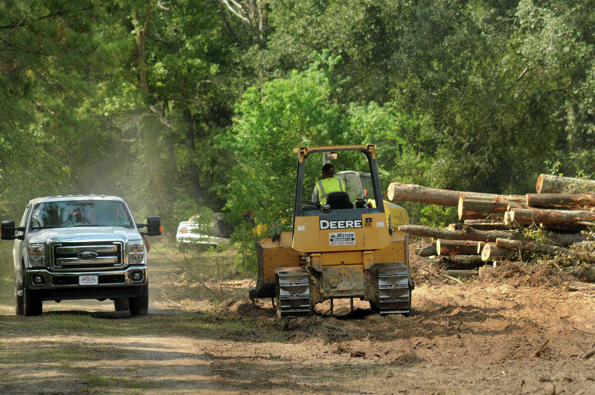 Clearing continues on the site of the new Southern Star Brewing Company brewing facility at 3521 N. Frazier in Conroe.