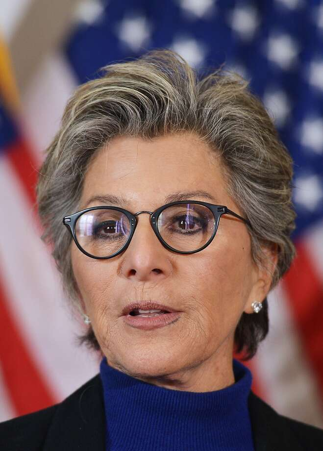 Senator Barbara Boxer, D-CA, speaks during a press conference calling for the creation of an independent military justice system for deal with sexual harassment and assault in the military,on Capitol Hill in Washington, DC on February 6, 2014. AFP PHOTO/Mandel NGANMANDEL NGAN/AFP/Getty Images Photo: Mandel Ngan, AFP/Getty Images