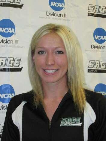 Helen Putriment of Sage women's volleyball, a Cobleskill graduate. (Sage sports information)