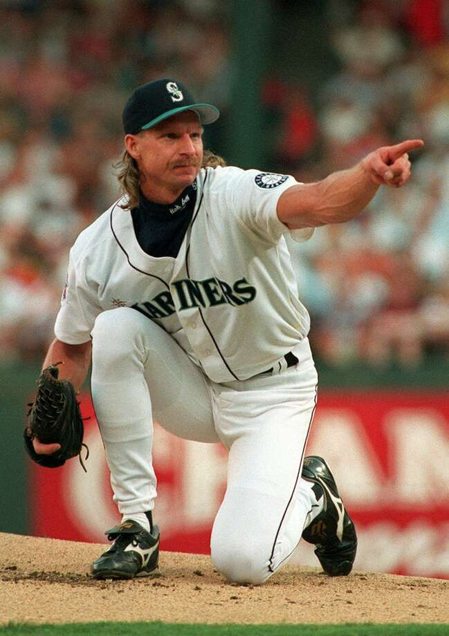 Left-hander Randy Johnson of the Seattle Mariners, seen at the 1995 All-Star Game in Arlington, Texas. Photo: LINDA KAYE / Associated Press / AP