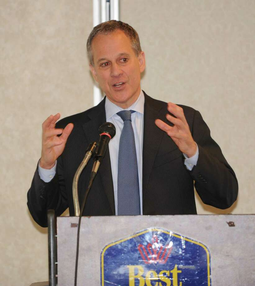 Attorney General Eric T. Schneiderman makes an announcement of $40 million in additional funding form homeowner protection program (HOPP) at the Best Western on Monday Sept. 29, 2014 in Clifton Park, N.Y. (Lori Van Buren / Times Union) Photo: Lori Van Buren / 10028803A