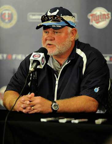 MINNEAPOLIS, MN - SEPTEMBER 29: Former manager Ron Gardenhire of the Minnesota Twins speaks to the media at a press conference announcing that Gardenhire is being replaced as Twins manager on September 29, 2014 at Target Field in Minneapolis, Minnesota. (Photo by Hannah Foslien/Getty Images) ORG XMIT: 515819457 Photo: Hannah Foslien / 2014 Getty Images