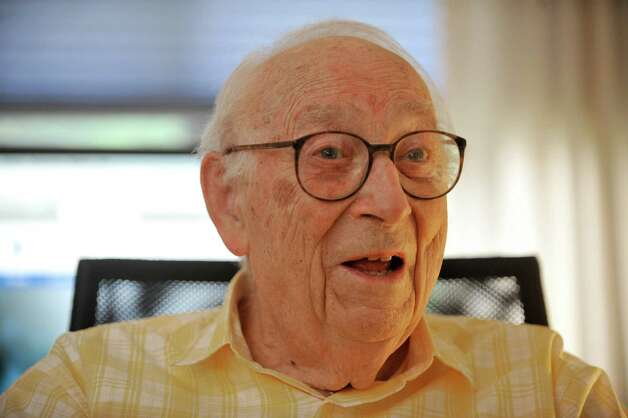 Heinrich Medicus, 95, talks about his life during an interview at his apartment on Thursday, Aug. 21, 2014, in Troy, N.Y.  (Paul Buckowski / Times Union) Photo: Paul Buckowski / 00028279A