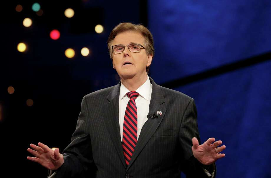 "State Sen. Dan Patrick: ""You know in the race for lieutenant governor, there has never been such a clear difference between two candidates ... But she's out of step with Texans on almost every issue.""HoustonChronicle.com: Lt. governor candidates trade barbs during only debate Photo: Associated Press / POOL AP"