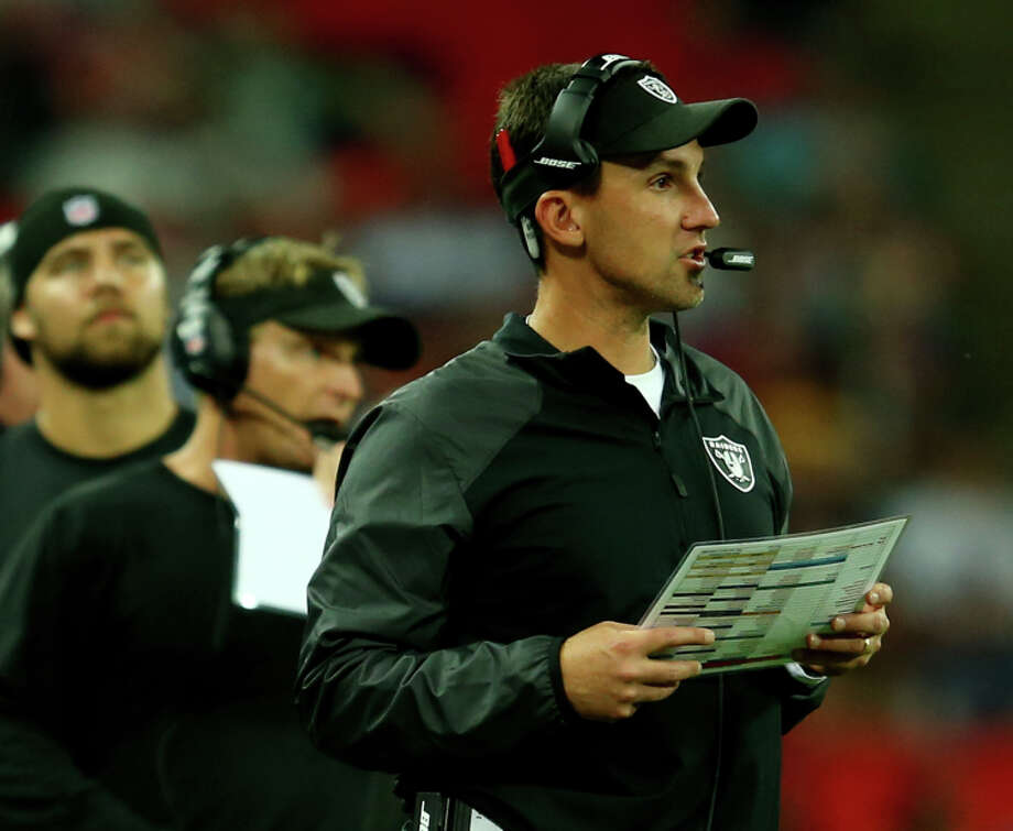 Dennis Allen arrived with a reputation as a strong defensive coach, but his results didn't bear that out. Photo: Richard Heathcote / Getty Images / 2014 Getty Images