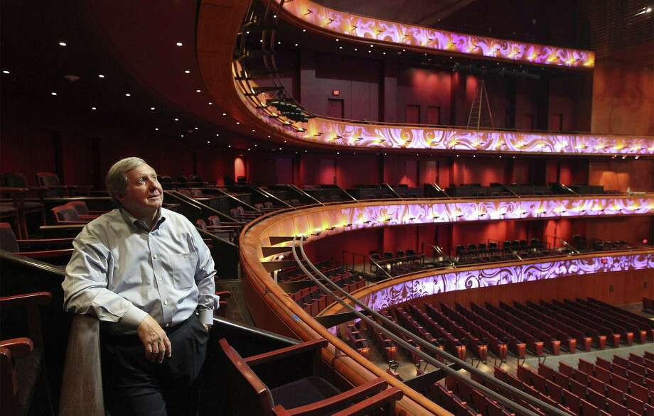 Stephen Souter, manager partner of Marmon Mok Architecture, takes in a view in the Tobin Center's H-E-B Performance Hall. Photo: Photos By Kin Man Hui / San Antonio Express-News / ©2014 San Antonio Express-News