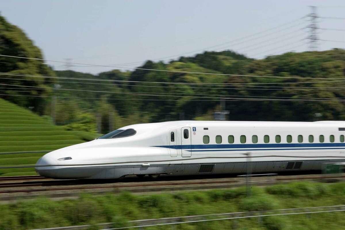 Japan's Tokaido Shinkansen high-speed rail line -- similar to the one proposed between Houston and Dallas.