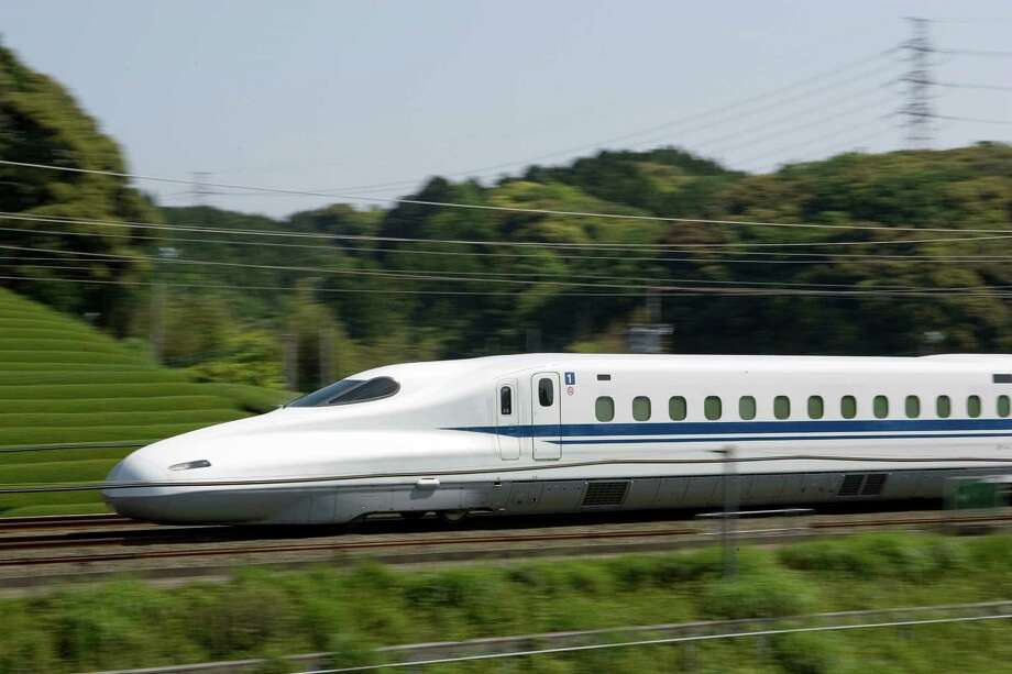 Japan's Tokaido Shinkansen high-speed rail line -- similar to the one proposed between Houston and Dallas. Photo: JR Central