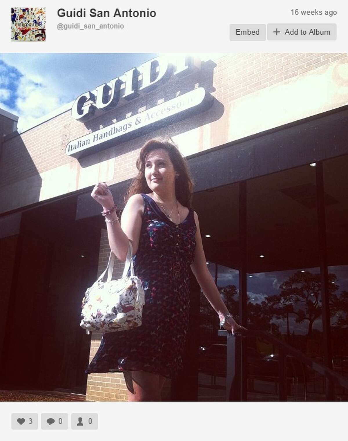 The Guidi Italian Handbags store, 2177 N.W. Military Hwy. in Castle Hills, was burglarized at 1:55 a.m. on Thursday, Sept. 25, 2014. Thieves stole an estimated $15,000 in merchandise.