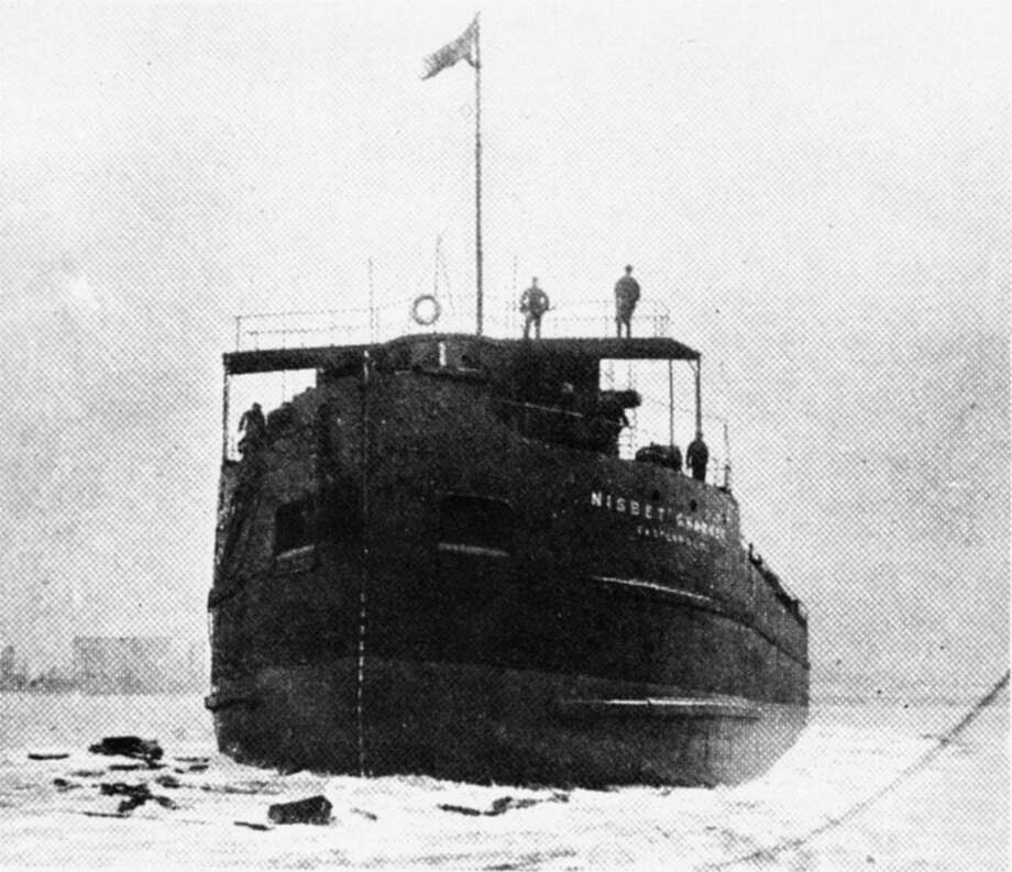 Photo from the Scanner, the newsletter of the Toronto Marine Historical Society, shows the launch of the Eastern Steamship Co. canaller Nisbet Grammer into the Mersey at Birkenhead, England, on April 14, 1923. (Photo from The Scanner http://www.maritimehistoryofthegreatlakes.ca)