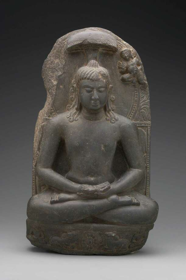 A sixth- or seventh-century sculpture of Jina Rishabhanatha is part of the exhibit. Photo: Yale University Art Gallery / ONLINE_YES