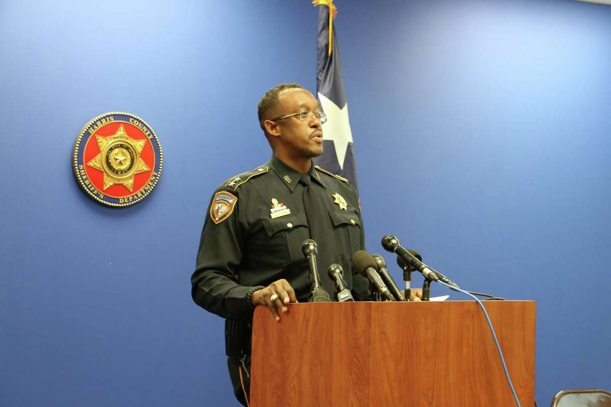 Assistant Chief Marlin Suell of the Harris County Sheriff's Office discusses a new report on sex trafficking ads in Houston, Sept. 30, 2014.