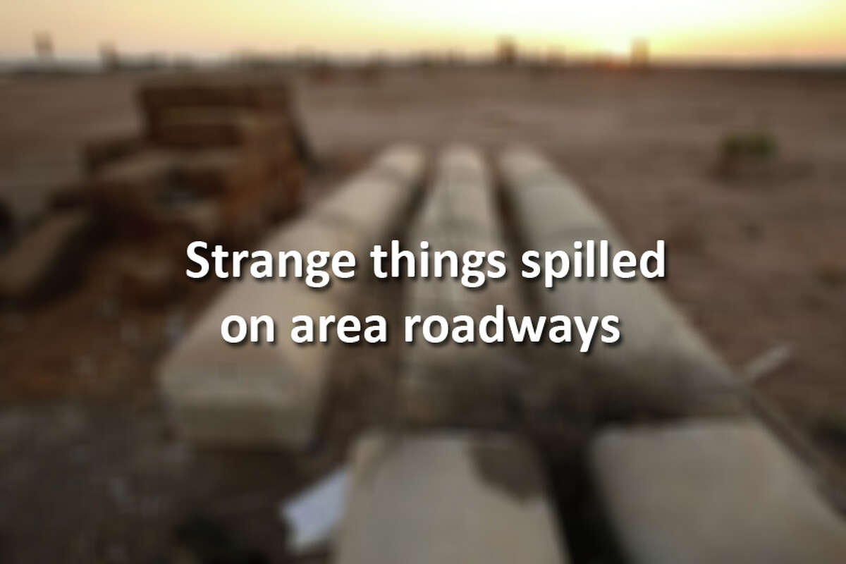 Strange things often spill on area roadways. Look back at some of the most memorable.