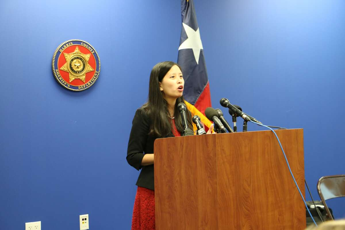 Julie Waters of Free the Captives discusses a new report on sex trafficking ads in Houston, Sept. 30, 2014.