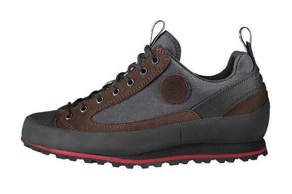 Rotpunkt approach shoes by Hanwag are well suited for rugged terrain and refined settings.