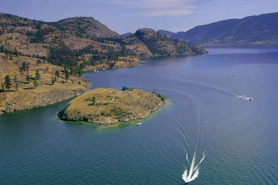 Rattlesnake Island in Lake Okanagan off the coast of Kelowna, British Colombia. Photo: Brian Sprout / ONLINE_YES