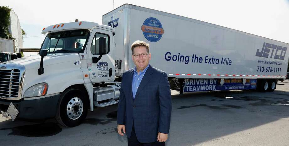 """Jetco Delivery's Brian Fielkow says congestion carries costs in safety and time lost, and """"our infrastructure has not kept up."""" Photo: James Nielsen, Staff / © 2014  Houston Chronicle"""